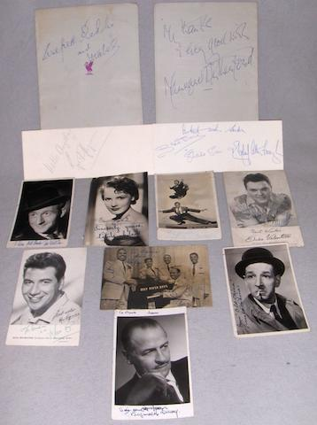A collection of various autographs,