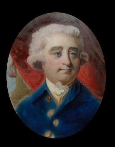 Charles James Fox (1749-1806) Portrait Miniature, after Sir Joshua Reynolds, PRA (British, 1723-1792)