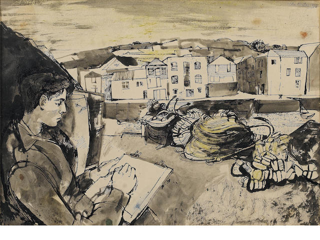 John Minton, Sketching Cornwall ***For London Sale