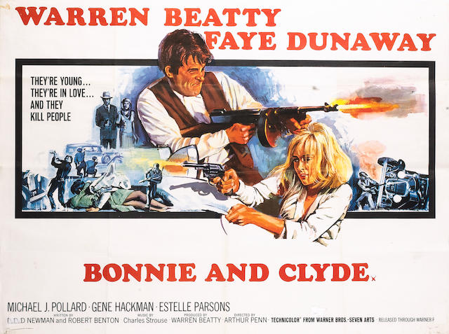 Bonnie and Clyde, Warner Bros/ Seven Arts, 1967,