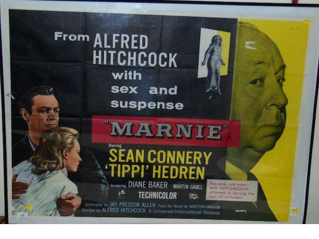 Two Hitchcock related UK Quad posters, for Marnie, Universal Pictures, 1964 and Torn Curtain, Universal Pictures, 1966,