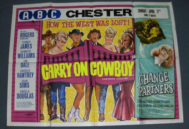 A collection of three Carry On related UK Quad posters, including Carry On Screaming!, Anglo-Amalgamated Film Distribution Ltd, 1966,