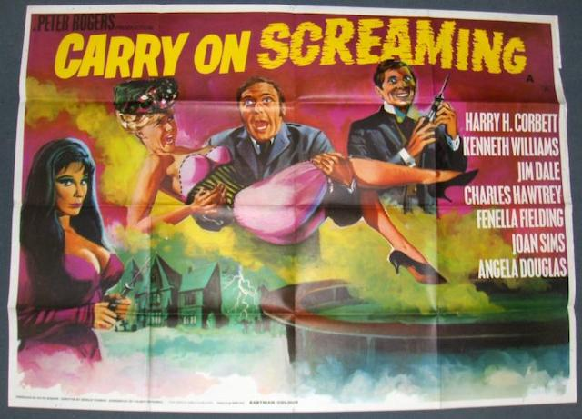 A collection of Carry On related UK Quad posters, including;