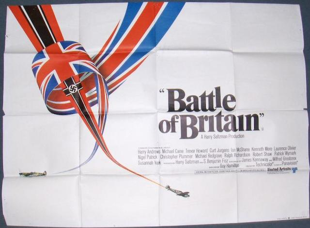Two War related UK Quad posters, The Longest Day, 20th Century Fox, 1962 and The Battle of Britain, United Artists, 1969,