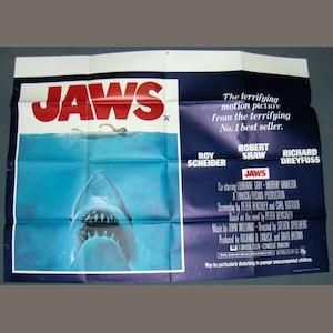 A collection of five UK Quad posters, including; Jaws, Universal Pictures, 1975,