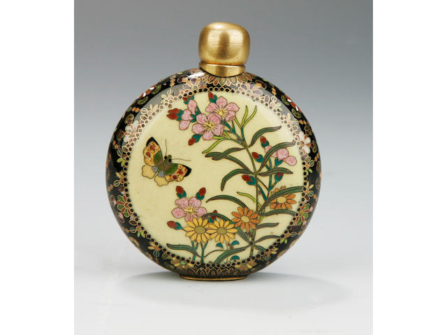 A cloisonne snuff bottle Meiji Period