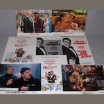 A collection of James Bond related posters, film stills and press material, all from the early 1980's, including: