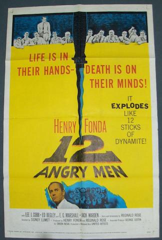 A collection of nine US one-sheet posters, iconic movies, including: