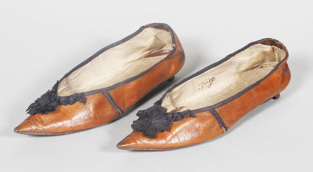 A pair of 18th century English lady's dress shoes