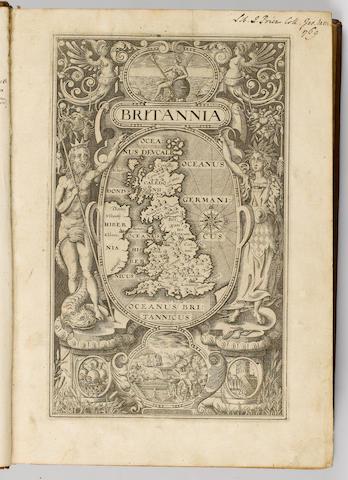 CAMDEN (WILLIAM) Britannia, sive florentissimorum regnorum Angliae, Scotiae, Hiverniae, et Insularum adiacentium