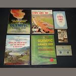 Six sports books and a set of Olympic postcards
