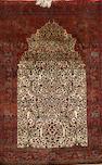 A Kashan silk rug, Central Persia 205 x 128cm 81 x 60cm