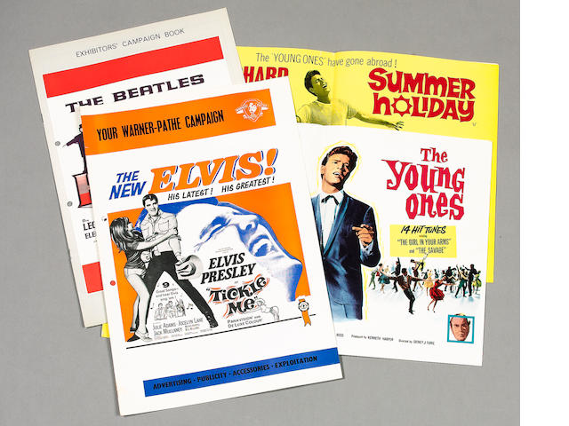 A collection of five Rock & Roll related campaign books, for The Beatles, Elvis Presley and Cliff Ri