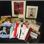 Assortment of boxing memorabilia