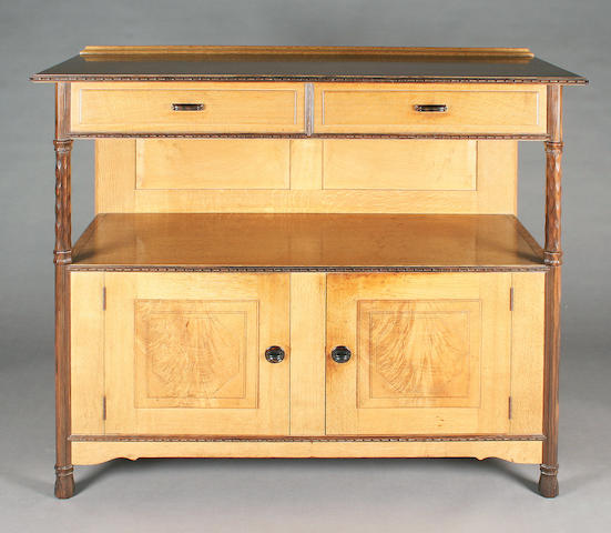 A good oak sideboard or buffet, by Peter Waals, circa 1926, after a design by Ernest Gimson