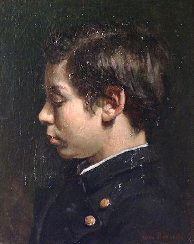 Jean Beraud (French, 1849-1936) Portrait of the artist's nephew