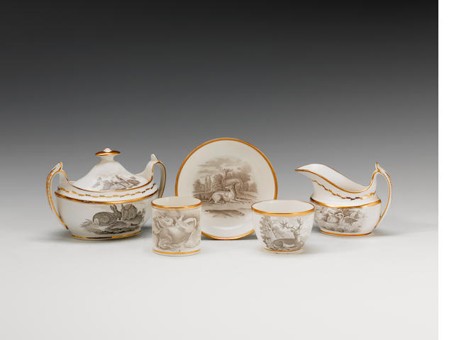 A Spode part tea and coffee service  circa 1810