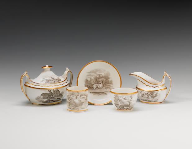 A Spode part tea and coffee service  circa 1810