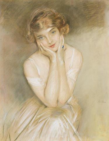 Paul César Helleu (French, 1859-1927) Portrait of a lady 77.5 x 60 cm (30 1/2 x 23 5/8 in)