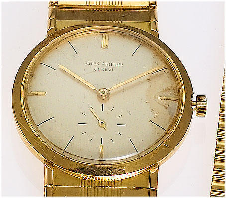 Patek Philippe. An 18ct gold manual wind bracelet watchRef: 2581, Case No.694889, Movement No.746365, 1950's