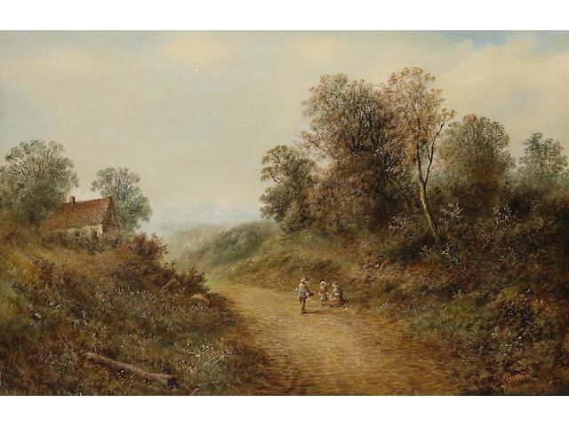 S. Martin (British, 19th century) Waldron Lane, Sussex, 51 x 76.5cm.