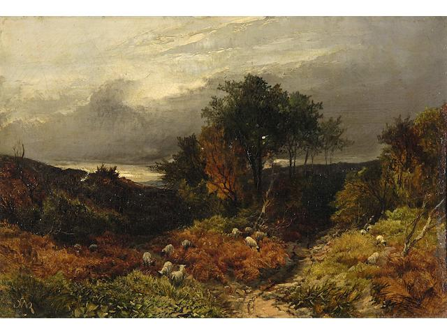 William S. Rose (British, 1810-1873) 'St. Pauls, Cray Common, Kent - a cloudy day', 20.5 x 31cm.