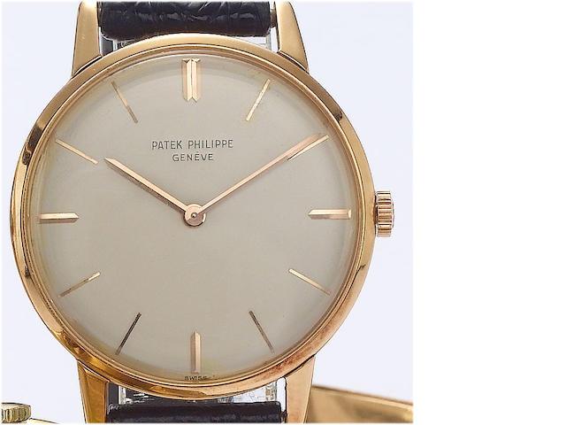 Patek Philippe. An 18ct rose gold wristwatch Ref:2599, Case No.2611925, Movement No.784364, 1960's