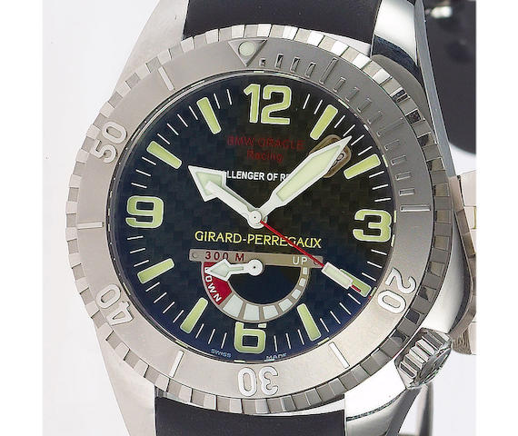 Girarad Perregaux. A fine stainless steel limited edition automatic wristwatch with power reseveREF. 49905, Sea Hawk-USA 71, BMW Oracle Racing, 2007