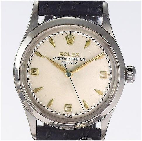 Rolex. A rare stainless automatic centre seconds wristwatchRef:6532, circa 1957