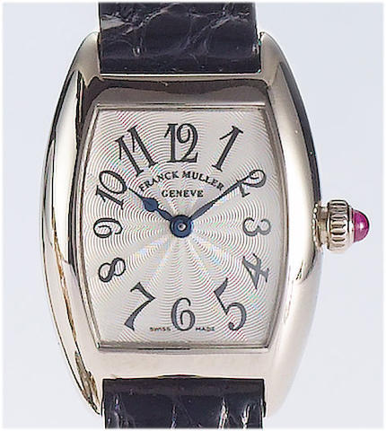 Frank Muller. A fine 18ct white gold ladies wristwatchRef:2500 QZ, No.3, recent