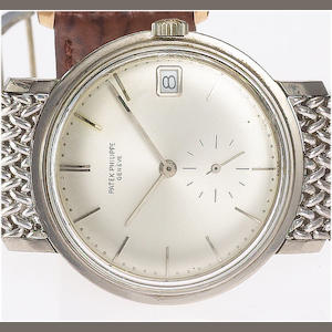 Patek Philippe. A fine 18ct white gold automatic calendar wristwatch with 18ct white gold bracelet Ref:3445, Case No.328100, Movement No.1118071, circa 1970