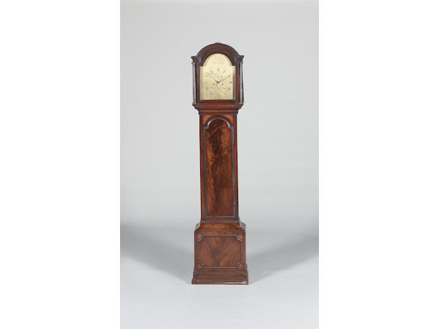 A late 18th century inlaid mahogany longcase clock Corn. Muzzell, Horsham