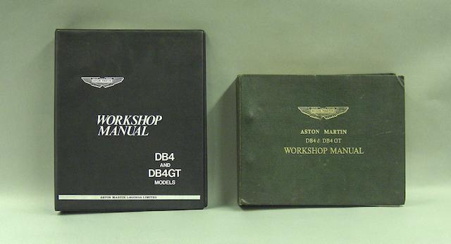 An Aston Martin DB4/DB4GT Workshop manual,