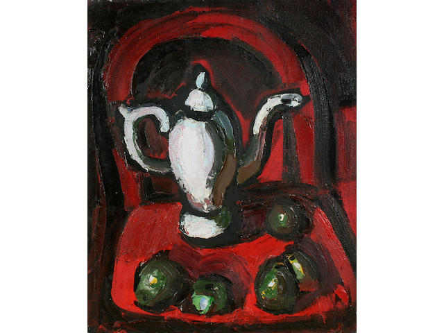 Theodore Major (British, 1908-1999) Table top still life,