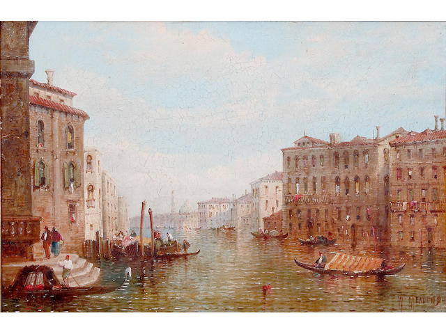William Meadows (Fl. 1870 - 1895 British) Grand Canal, Venice, on canvas, 39.5 x 59.5cm See illustration