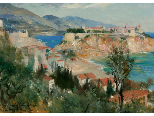 "Thomas Eyre Macklin (British, 1867-1943) ""Sketch on the Spot, Monaco"","