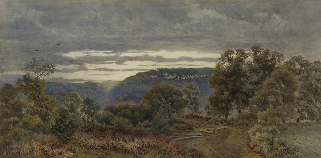 William Paton Burton (British, 1828-1883) Evening, Whitley, near Godalming, Surrey