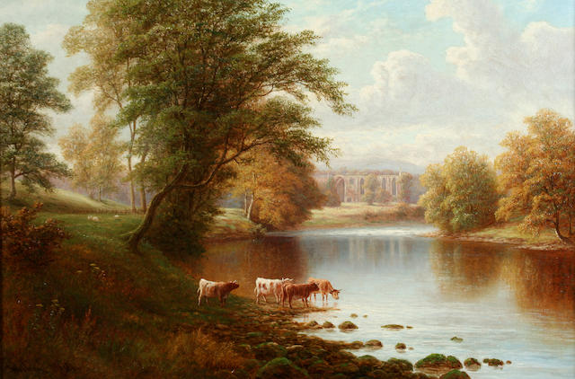 William Mellor (British, 1851-1931) Bolton Abbey from the Wharfe, Yorkshire