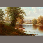 1 oil on canvas-WM Mellor- Wharfe at Bolton Abbey