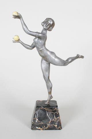 A French Art Deco style metal figure