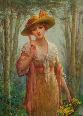 Lady in woods - S Kendrick