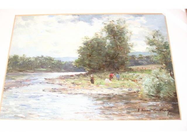 Joseph Morris Henderson, RSA (British, 1863-1936) By the river