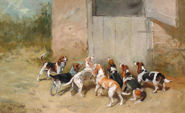 John Emms (British, 1843-1912) Anticipation