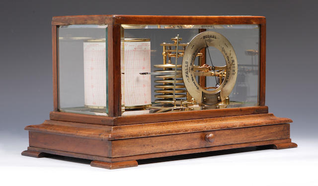 An early 20th century oak cased barograph Retailed by Yeates & Son, Dublin