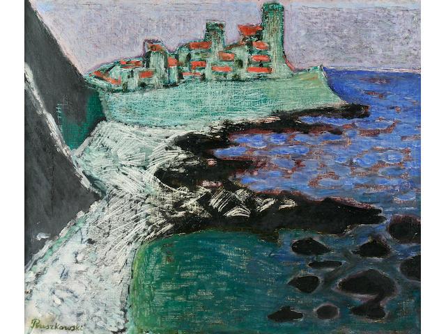 Ruszkowski- oil on canvas coastal scene