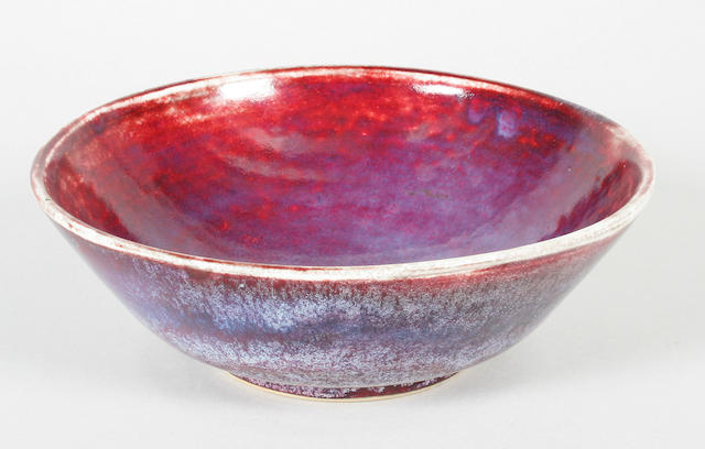 A Ruskin Pottery high-fired bowl
