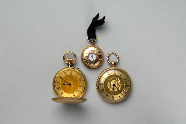 Two 19th century 18 carat gold ladies pocket watches
