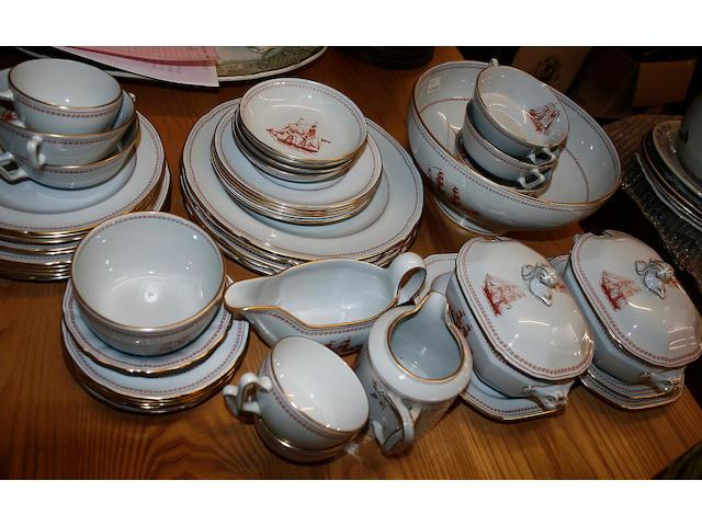 A modern Spode `Trade Winds' part tea/dinner service,