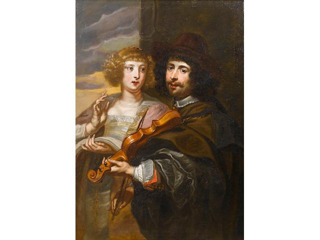 Jan Cossiers (Antwerp 1600-1671) An elegant young lady singing 113.8 x 80.8 cm. (44¾ x 31¾ in.)