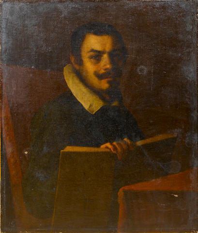 Carracci School, early 17th Century Portrait of a gentleman, 89.4 x 76 cm. (35¼ x 29 7/8 in.) unfram